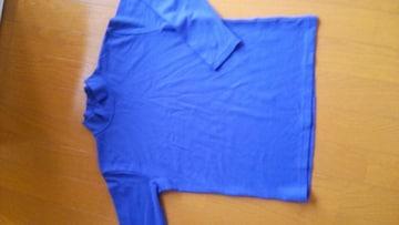 キッズ 男の子 長袖 Tシャツ ブルー 無地
