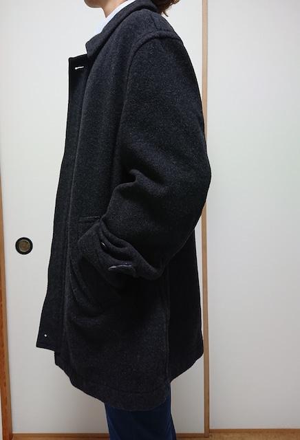 送料無料!!ブラックダブルジップ毛コート!!美品!! < ブランドの