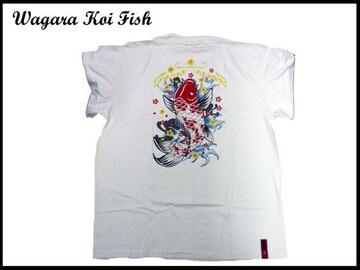 新 【白色-L】 NS-95 KOI FISH T-シャツ