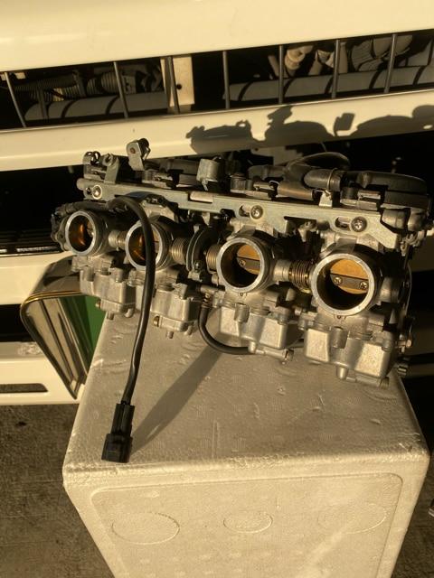 ヤマハ XJR400R RH02J 純正 キャブレター 洗浄済み < 自動車/バイク