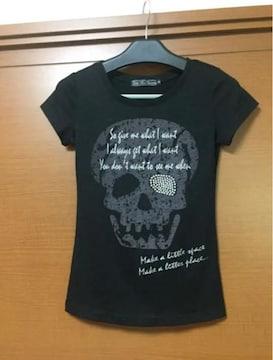 美品♪スカル☆Tシャツ(^^)刺繍♪ キラキラ☆