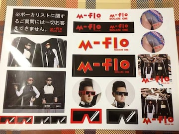 m-flo「SQUQRE ONE」スッテカー2枚セット シール