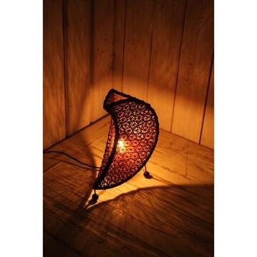 月形 バリランプ 卓上ランプ 間接照明 インテリア雑貨 バンブー
