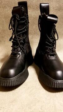 新品JULIUSユリウス Side zip lace-up boots 2