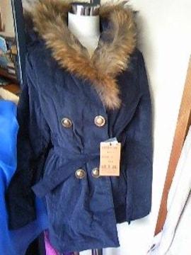 diaめちゃ暖かラクーンファーのコート新品
