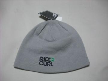 rc127 男 RIP CURL リップカール ニット帽 ビーニー 灰