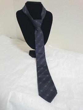 正規美 ドルチェ&ガッバーナ DGロゴ ナロータイ シルク細ネクタイ6センチ ネイビー ドルガバ