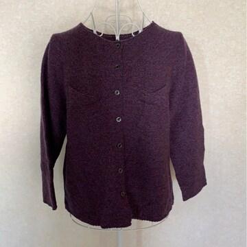 カジュアル★紫★カーディガン★シンプル