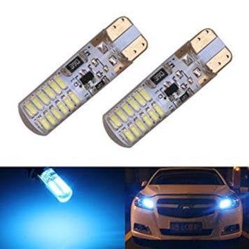 アイスブルー サイズT10 3014SMD 24連 T10 LEDバルブ アイスブ