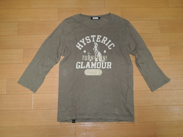 HYSTERIC GLAMOURヒステリックグラマー7分丈ロンTシャツM