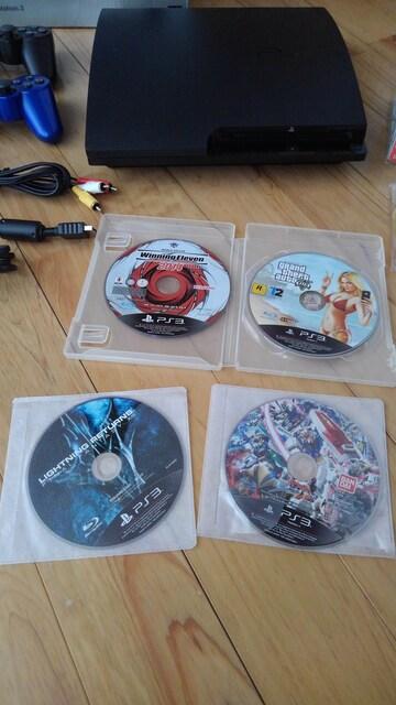 PS3 CECH-3000B 320GB+ソフト+箱説有 動作確認済 < ゲーム本体/ソフトの