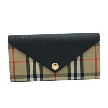◆新品本物◆バーバリー HALTON EV 長財布(BK)『8026108』◆
