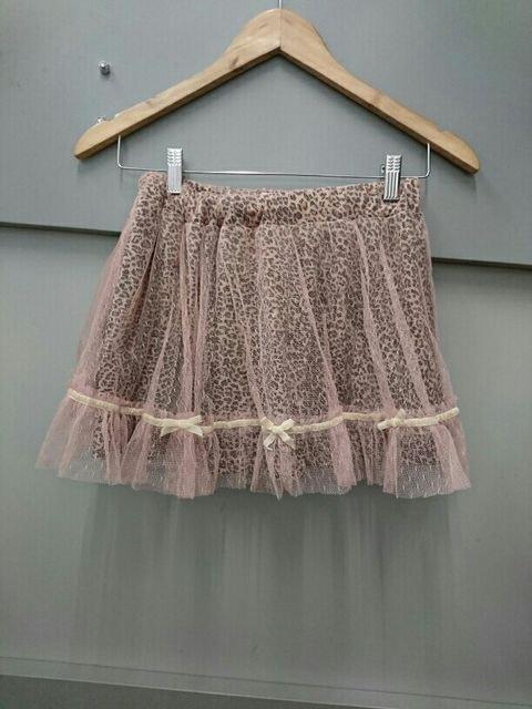 Ank Rouge☆チュール重ねヒョウ柄スカート  < ブランドの