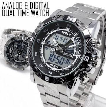 NEW★アナログ&デジタル・ビッグフェイス腕時計FSMB1-C