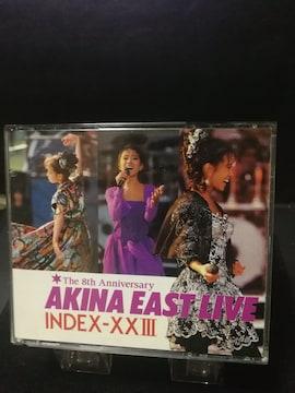 中森明菜 EAST LIVE INDEX23    2CD  曲目画像掲載 送料無料
