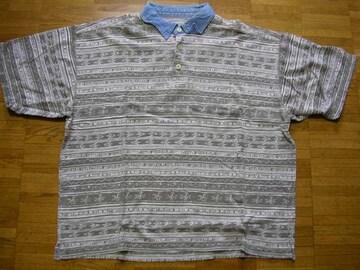 即決USA古着デザイン半袖ポロシャツ!ヴィンテージ
