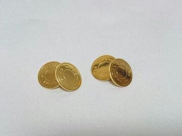 正規良 HERMESエルメス セリエ カフスボタン金 カフリンクス ゴールド チェーンボタン 兼用