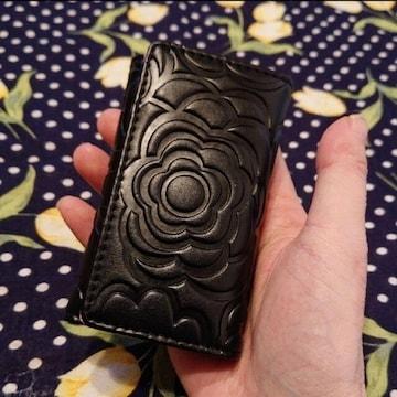 【値下げ不可】極美品!!カメリア ブラック×ピンク キーケース