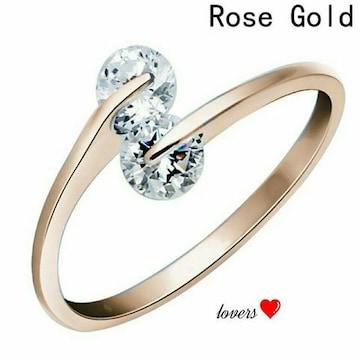 送料無料15号ゴールドスーパーCZダイヤデザイナーズリング指輪