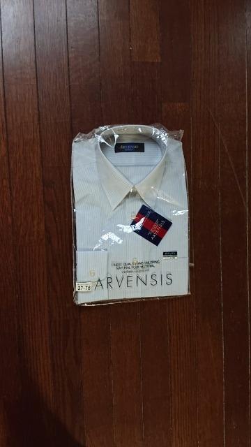 ストライプ柄シャツ  37-76   新品未使用  < 男性ファッションの