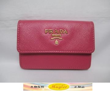 超美品 PRADA プラダ コインケース カード入れ ピンク 本物
