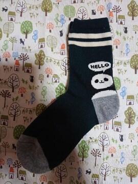 新品、靴下、くつ下、23�p〜25�p、パンダ、動物、1円