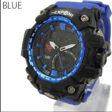 NEW★アナログ&デジタル・ビッグフェイス腕時計FSMB23BL
