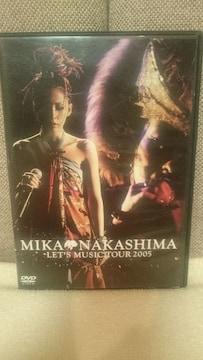 中古 中島美嘉 DVD レッツ ミュージック ツアー 2005 国内正規品!送料込み