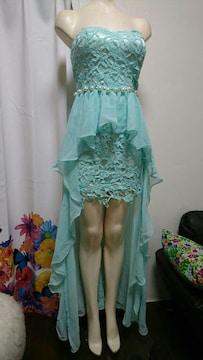ミントグリーン ベアロングドレス・ナイトドレス
