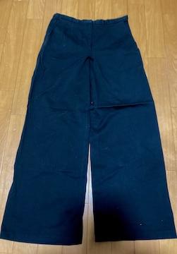 新品パンツ ブラック ワイドパンツ 美脚 着痩せ効果 コットン 綿