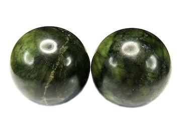 天然石蛇紋岩サーペンティン手のマッサージボール健康球2個