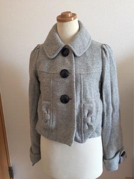 美品 イング  デカボタン付き ハーフコート