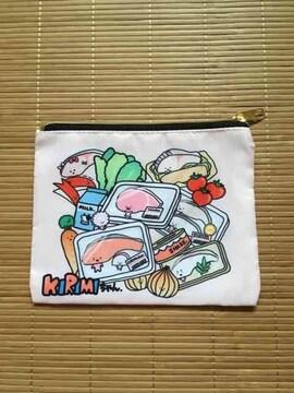 サンリオ・KIRIMIちゃん・買い物柄フラットポーチ