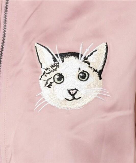 アルシーヴ・白猫フェイス刺繍スカジャン。 < ブランドの