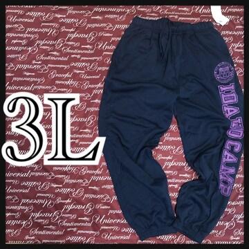 3L・英字ロゴスウェットパンツ新品/MCA710-004