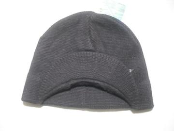 wb145 女 BILLABONG ビラボン つば付き ニット帽 茶