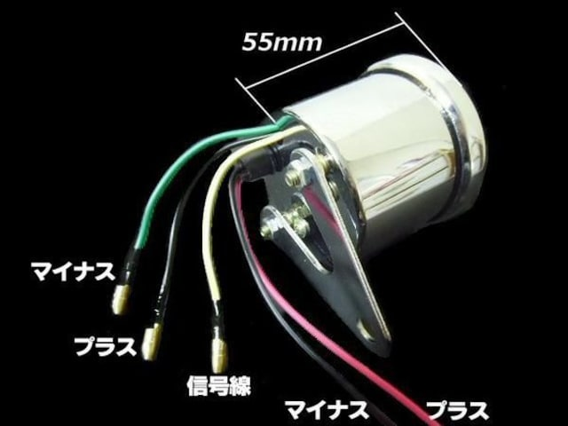 電気式 タコメーター 60mm LED/4サイクル ゴリラ バイク 汎用 < 自動車/バイク