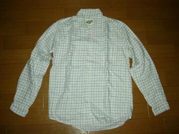 美中古バルBALチェックシャツL白系アナクロノーム