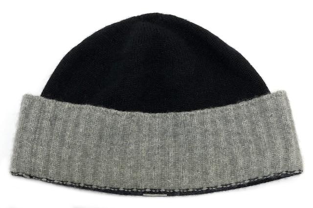 新品同様正規シャネルニット帽ニットキャップココマークカシミ < ブランドの