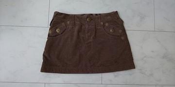 バーバリー☆コーデュロイ☆ミニスカート☆