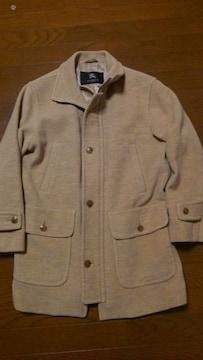 BURBERRY ハーフコート 毛75%アンゴラ25% Mサイズ