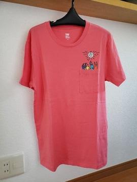 グラニフ 半袖 ワンポイント デザイン Tシャツ ピンク M