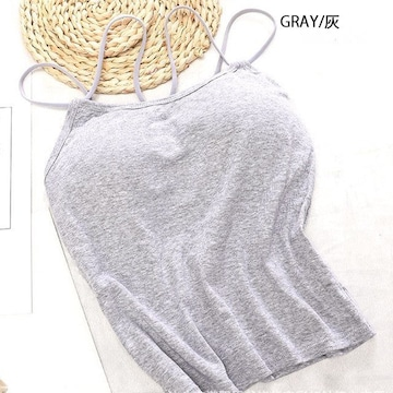 レディースファッション キャミソール インナー グレー