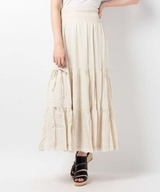 新品goa麻レーヨンストール付2wayマキシスカート < ブランドの