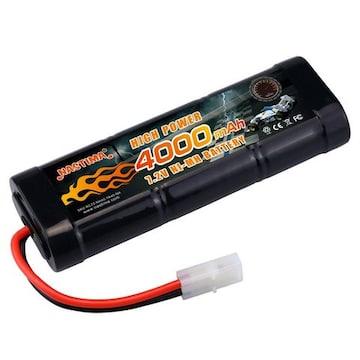 7.2v ニッケル水素バッテリー 超大容量4000mAh