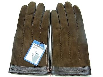 スマホ・タッチパネル対応 手袋 新品 24cm 茶 a