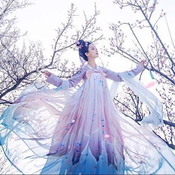 新品 漢服 コスプレ衣装 舞台&撮影&学園祭&お祭り 7点セット M