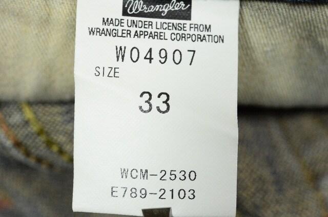 W33 ラングラーW04907 ブーツカット 股下71cm < ブランドの