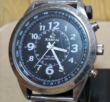 MARSHAL マーシャル MR69-BK 電波 クオーツ 腕時計 メンズ