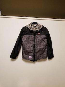 ANAP BOY◆裏地レオパードジャケットパーカーコート 150�p